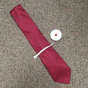 Hilfiger rust red pique tie